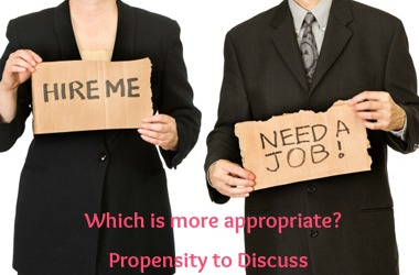 Are you ready for that interview? A Propensity to Discuss Post
