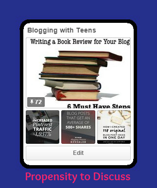 Blogging with Teens. A Propensity to Discuss post.