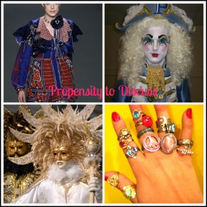 Over accessorizing. Life lessons from Project Runway. A Propensity to Discuss post.