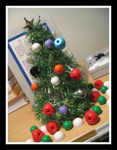 "Atom Tree. ""ChemisTree"" aka Chemistry Tree. Bringing the holidays to the classroom. A Propensity to Discuss post."