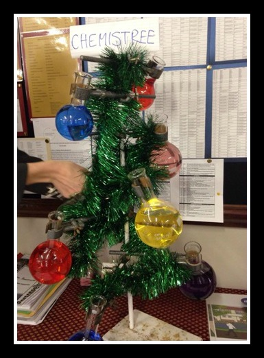 """ChemisTree"" aka Chemistry Tree. Bringing the holidays to the classroom. A Propensity to Discuss post."