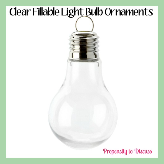 Clear Fillable Light Bulb Ornaments. How to Waste Time And Love Doing It. A Propensity to Discuss Post.