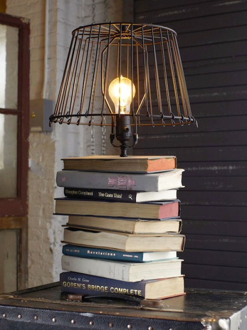 I've read that book...now what? A Propensity to Discuss Post. Book Lamp Crafting with old books.