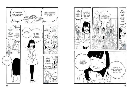 The Life Changing Manga of Tidying Up by Marie Kondo. A Propensity to Discuss review.